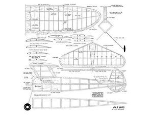 Carl Goldberg Gas Bird Full Size Balsa Model Airplane Kit