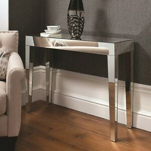 living room console tables mirrored decor for small apartment modern stylish florence table hallway image is loading