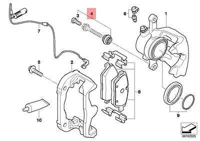 Genuine BMW E81 Brake Caliper Guide Bushing Bolt Repair