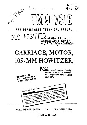 333 Page 1944 105 mm Howitzer M7 TM 9-731E Carriage Motor