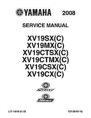 Yamaha service manual 2008 STAR STAR XV19CSX(C) & RAIDER
