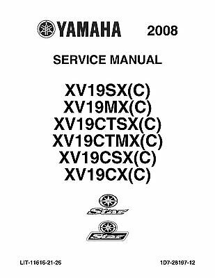 Yamaha service manual 2008 STAR RAIDER XV19SX(C