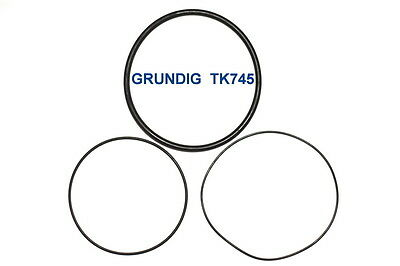SET BELTS GRUNDIG TK745 REEL TO REEL EXTRA STRONG NEW