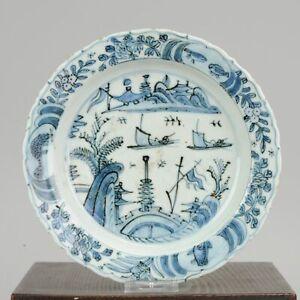 Antique Chinese Kraak Dish 16th century Porcelain China Plate Wanli Jiaj...