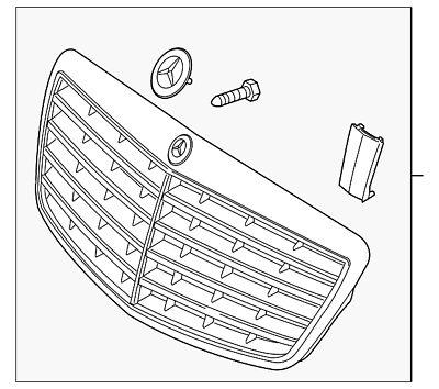 Genuine Mercedes-Benz Grille Assembly 221-880-05-83-9040