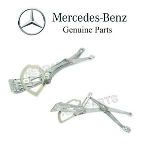 For Mercedes W210 E300 Pair Set of 2 Front Window
