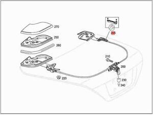Genuine Convertible Top Flap Repair Kit MERCEDES R230 W230