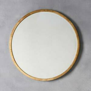 details about higgins large rustic metal antique gold round wall mirror 31 5 80cm