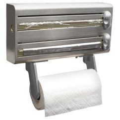 Kitchen Paper Towel Holder Small Rugs Homebase Stainless Steel 3in1 Dispenser Cling Film Foil Masterclass Roll
