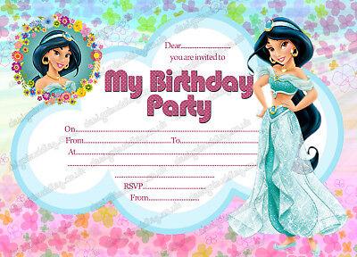 princess jasmine invitation disney jasmine invite princess jasmine birthday x8 ebay