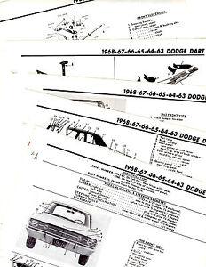 1963 1964 1965 DODGE DART MOTOR'S ORIGINAL BODY FRAME