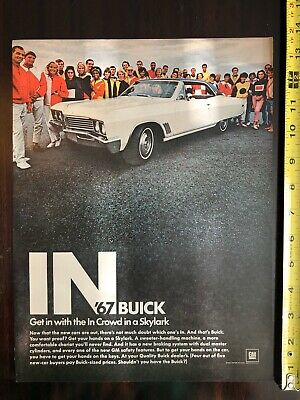 67 Buick Skylark : buick, skylark, Anuncio, Revista, Original, Buick, Skylark,, Vintage, Muscle, Cueva, Hombre, Arte,