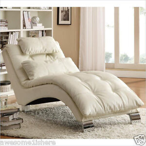 chaise lounge chairs indoor steel z chair cheap sofa furniture white couch living image is loading