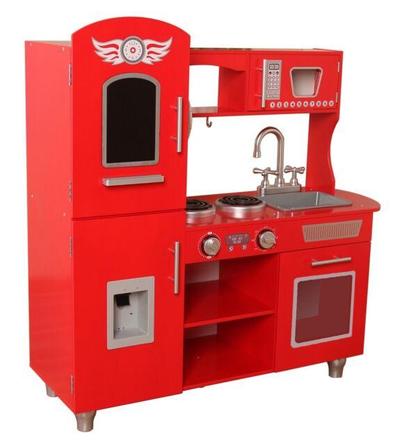 retro kids kitchen cabinets maryland kiddi style chefs xlarge childrens pretend play toy wooden