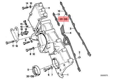 Genuine BMW 114 E12 E21 E28 E30 Timing Chain Case Gasket