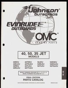 1997 OMC /JOHNSON / EVINRUDE 40, 50, 35 JET MODELS