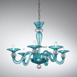 Un'ampia scelta per il tuo lampadario di murano in vetro soffiato e lampadari veneziani classici. Lampadario Murano Vl Art 1154 Sp6 Azzurro Super Prezzo Leggi E Fai Un Offerta Ebay