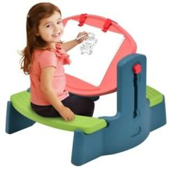 Plastic Kids Table And Chairs Wall Protector From Children Adjustable Drawing Chair Set Height Art Image Is Loading