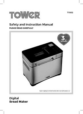 Williams Sonoma Bread Machine Manual : williams, sonoma, bread, machine, manual, Tower, T11002, Bread, Machine, Owners, Manual