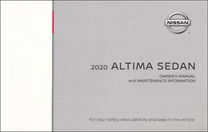 2020 Nissan Altima Sedan Owners Manual Operator User