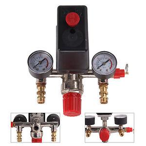 Single Phase Compressor Pressure Switch Air Valve Gauge