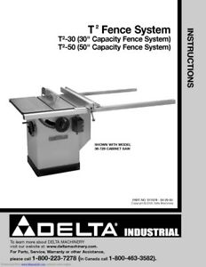 Delta T2 Fence Parts