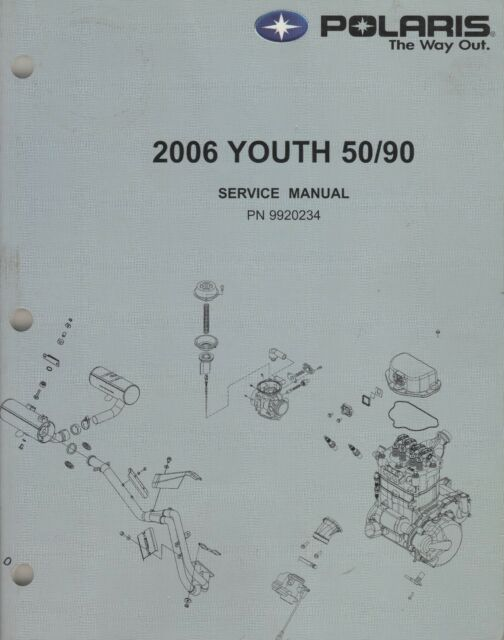 2006 POLARIS ATV YOUTH 50/90 SERVICE MANUAL 9920234 (923