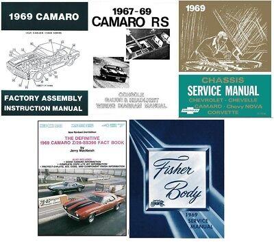1969 camaro restoration book set service body chassis wiring diagrams  ebay