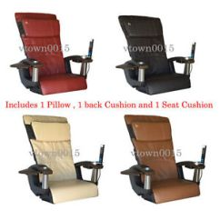 Spa Pedicure Chair Vitra Panton Ht138 Leather Pad Set Upholstery Back Pillow Seat For Massage Image Is Loading