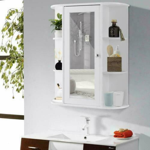 Bathroom Wall Cabinet With Double Mirror Doors For Sale Online Ebay