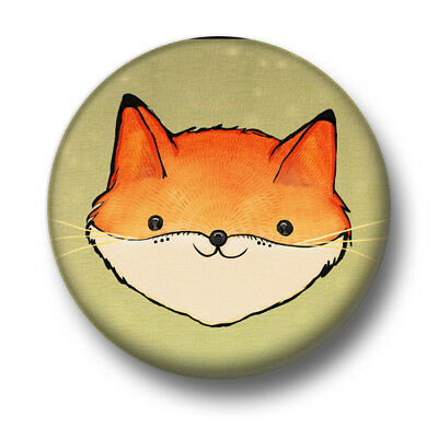 Smiling Fox 1 Inch 25mm Pin Button Badge Foxes Cute Cartoon Animals Nice Funny Ebay
