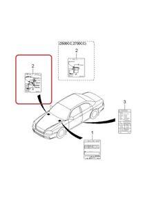 Vacuum Diagram- Label GENUINE KIA 3249038350 Fits 2000