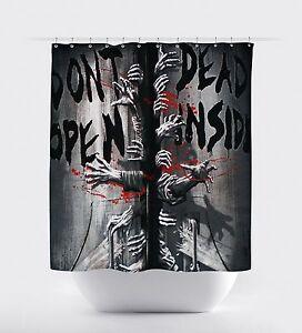 New The Walking Dead Don't Open Dead Inside Shower Curtain