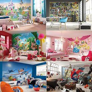 Disney Cars Mural Wallpaper Ebay Wall Mural Wallpapers Kids Room Disney Marvel Princess
