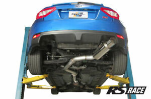 details about greddy rs race 3 15 cat back single exit exhaust for 08 14 subaru sti wagon grb