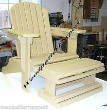 plans for adirondack chair comfy dining chairs w foot rest paper patterns build it like expert easy diy