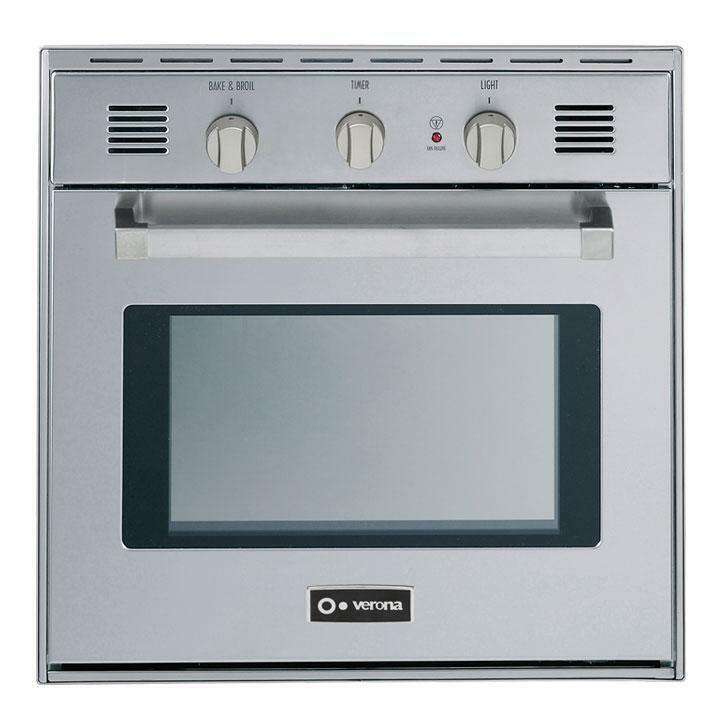 verona vebig24nss 24 inch 2 cu ft capacity gas single wall oven stainless steel