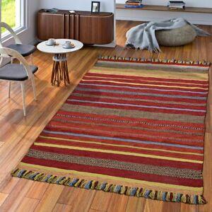 https www ebay fr itm tapis tisse main salon nature tapis tisse kilim coton rayures multicolore 293216194098