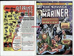 1974 GIL KANE SUBMARINER #70 ORIGINAL COVER PROOF PRODUCTION ART NAMOR UNCHAINED