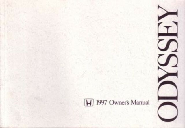 1997 Honda Odyssey Owners Manual User Guide Reference