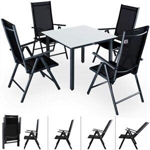 Dettagli Su Set Tavolo E 4 Sedie Pieghevoli In Alluminio Da Giardino Arredo Esterni 2 Colori
