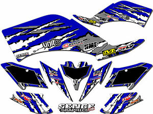 details sur raptor 90 yamaha graphics kit deco stickers atv quad 4 wheeler four