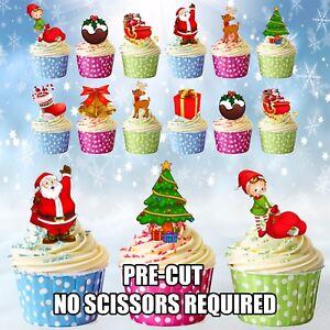 Edible Christmas Cupcake Decorations