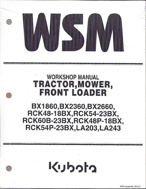 Kubota Bx1860 Bx2360 Bx2660 Tractor Workshop Service