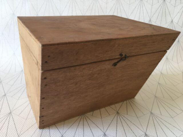 Ancien Coffret Boite En Bois De Forme Trapeze Original A Peindre Ou Decorer Ebay