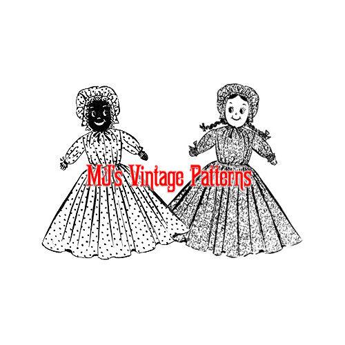 Vintage Topsy Turvy Upside Down Cloth Doll Pattern ~ Suzy