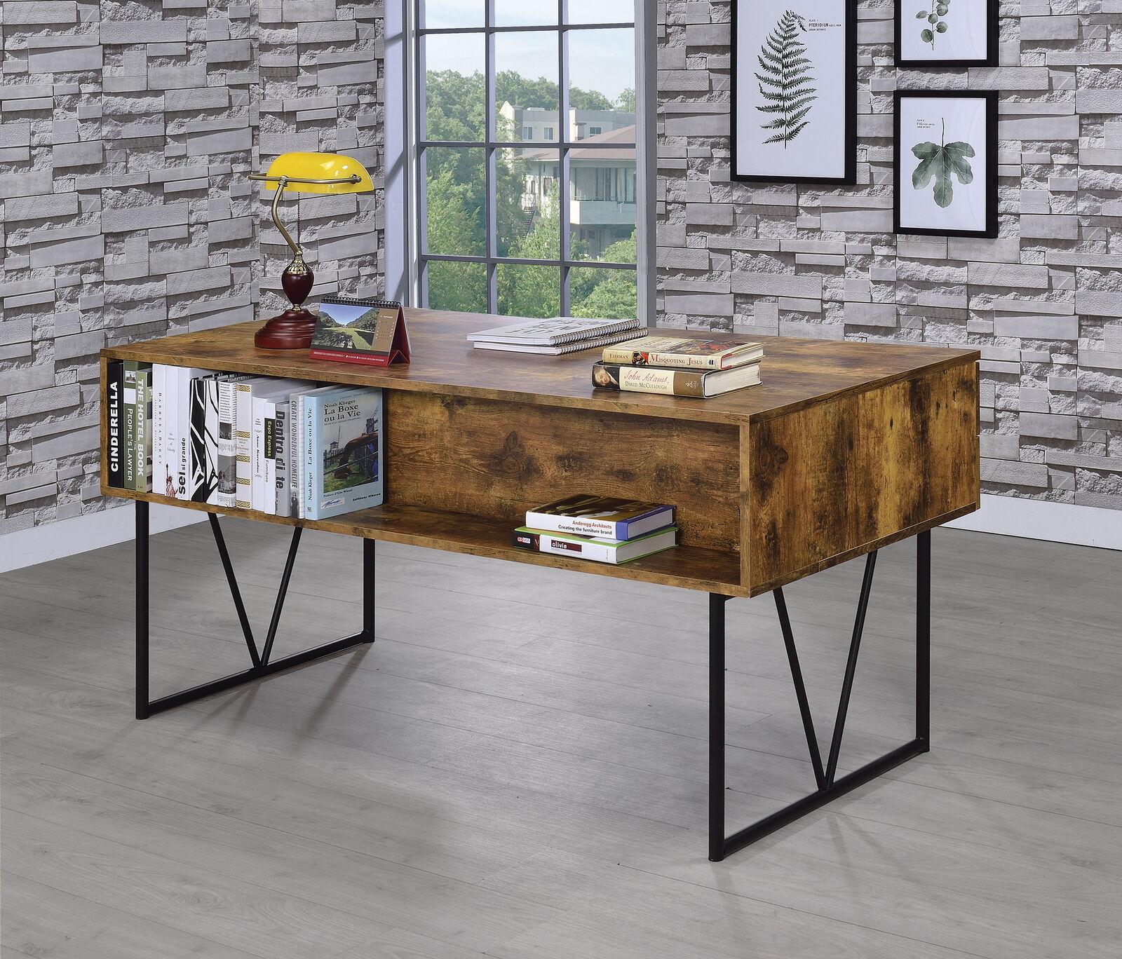 coaster home furnishings analiese 4 drawer writing desk antique nutmeg black