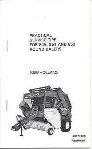 New Holland 846,851 & 852 Round Baler Practical Service