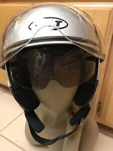 Pilot Style Motorcycle Helmet : pilot, style, motorcycle, helmet, Pilot, Style, Motorcycle, Helmet, Small, Extra, Shield