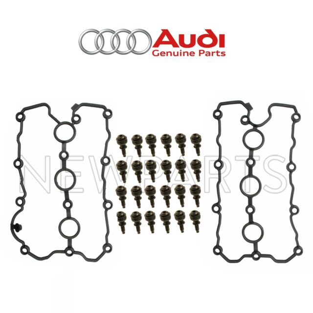 For Audi A4 A6 Quattro 24 Valve Cover Screw & 2 Gaskets